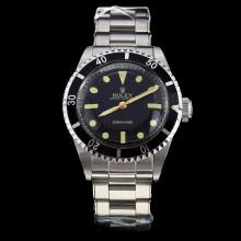 Rolex Submariner Swiss ETA 2836 Movement Black Dial with Rivet Strap S/S-Vintage Editioin-2