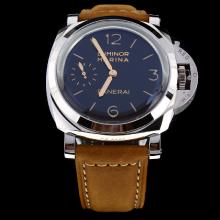 Panerai Luminor Marina Swiss Calibre P.3001 Manual-winding Movement with Black Dial-Leather Strap