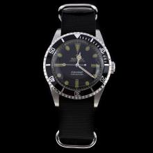 Rolex Submariner Swiss ETA 2836 Movement Black Dial with Nylon Strap-Vintage Edition-5