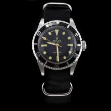 Rolex Submariner Swiss ETA 2836 Movement Black Dial with Nylon Strap-Vintage Edition-4