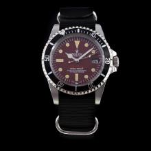 Rolex Submariner Swiss ETA 2836 Movement Brown Dial with Nylon Strap-Vintage Edition