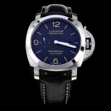 Panerai Luminor Marina Automatic with Black Dial-Leather Strap