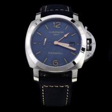 Panerai Luminor Working GMT Automatic with Blue Dial-Leather Strap-1