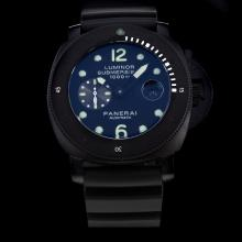 Panerai Luminor Submersible Automatic PVD Case with Black Dial-Rubber Strap