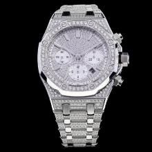 Audemars Piguet Royal Oak Chronograph Swiss Valjoux 7750 Movement with Diamonds S/S
