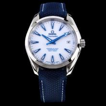 Omega Seamaster Swiss ETA 8500 Movement with White Dial-Nylon Strap