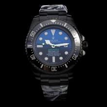 Rolex Sea-Dweller Deepsea Automatic Full PVD Ceramic Bezel with Blue/Black Dial