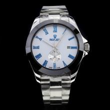 Rolex Oyster Perpetual Automatic Ceramic Bezel Blue Markers with White Dial S/S