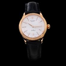 Rolex Cellini Rose Gold Case White Dial with Stick Marking-Lady Size