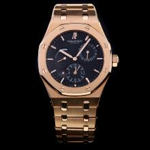 Audemars Piguet Jules Audemars Working Power Reserve Automatic Full Rose Gold with Black Dial-18 Plated Gold Movement