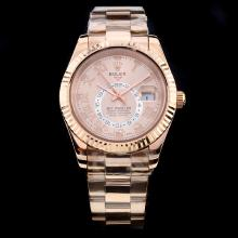 Rolex Sky Dweller Automatic Full Rose Gold with Champagne Dial
