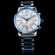 Montblanc Time Walker Automatic Blue Bezel With White Dial S/S