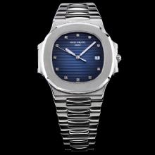 Patek Philippe Nautilus Swiss ETA 2836 Movement Blue Dial with Diamond Marking S/S