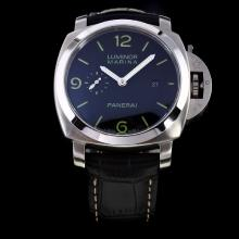 Panerai Luminor Marina Swiss Valjoux 7750 Movement with Black Dial-Leather Strap