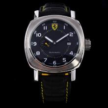 Panerai Ferrari Rattrapante Automatic with Black Dial-Leather Strap