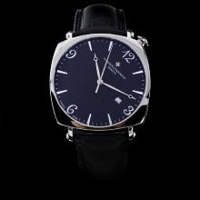 Vacheron Constantin Historiques Swiss ETA 2824 Movement with Black Dial-Leather Strap