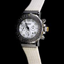 Paul Picot Le Plongeur C-Type Automatic with White Dial-White Rubber Strap