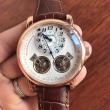 Montblanc Nicolas Rieussec Twin Barrels Tourbillon Automatic with White Dial-Leather Strap