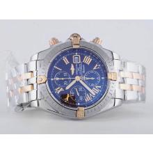 Breitling Chronomat Evolution Chrono Asia Valjoux 7750 Movimento Two Tone Con Brown Dial