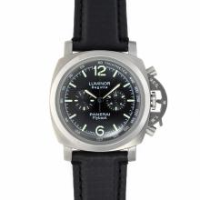 Panerai Luminor Regatta Flyback Chronograph Working-Black Checkered Dial