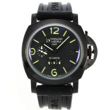 Panerai Luminor GMT 10 Giorni Cassa In PVD Con Quadrante Nero