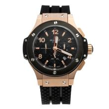 Hublot Big Bang Chronograph Working Re Cassa In Oro Rosa Con Nero Carbonio Style Dial-48MM Version