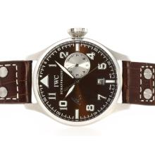 IWC Big Pilot Lavorare Power Reserve Con Brown Dial E Strap-Antoine St Exupery Limited Edition