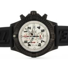 Breitling Super Avenger Chronograph Working Cassa In PVD Con Quadrante Bianco