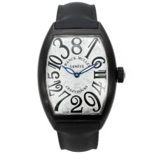 Caso Automatic PVD Con White Strap Dial-Rubber Franck Muller Pazzo Hours