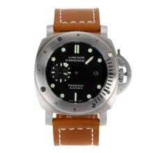 Panerai Luminor Sommergibile Automatico Con Quadrante Nero-Cinturino In Pelle 47MM