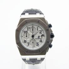 Audemars Piguet Royal Oak Offshore Chronograph Lavorare Con White Strap Dial-Leather
