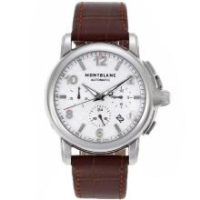 Montblanc Sport Automatic Con Scacchi Bianchi Strap Dial-Leather