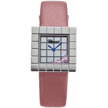 Chopard Ice Cube Quadrante Argentato Con Rosa Strap-Lady Leather Size