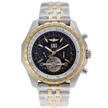 Breitling Bentley T Tourbillon Automatic Two Tone Con Quadrante Nero