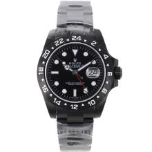 Rolex Explorer II Automatic PVD Completa Con Quadrante Nero-Stesso Telaio, Come ETA Version-High Quality