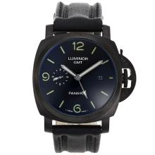 Panerai Luminor GMT Automatico Cassa PVD Con Cinturino Dial-Leather