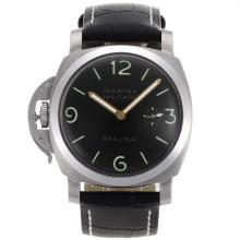 Panerai Marina Militare Unitas 6497 Movimento A Collo Di Cigno Con Quadrante Nero-Lefty Version