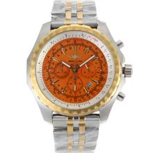 Breitling For Bentley Motors Lavoro Cronografo Two Tone Con Orange Dial