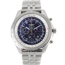 Cronografo Breitling For Bentley Motors Lavorare Con Blue Dial-S / S