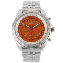Breitling For Bentley Motors Lavoro Cronografo Con Orange Dial-S / S